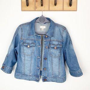 LOFT 3/4 Sleeve Jean Jacket